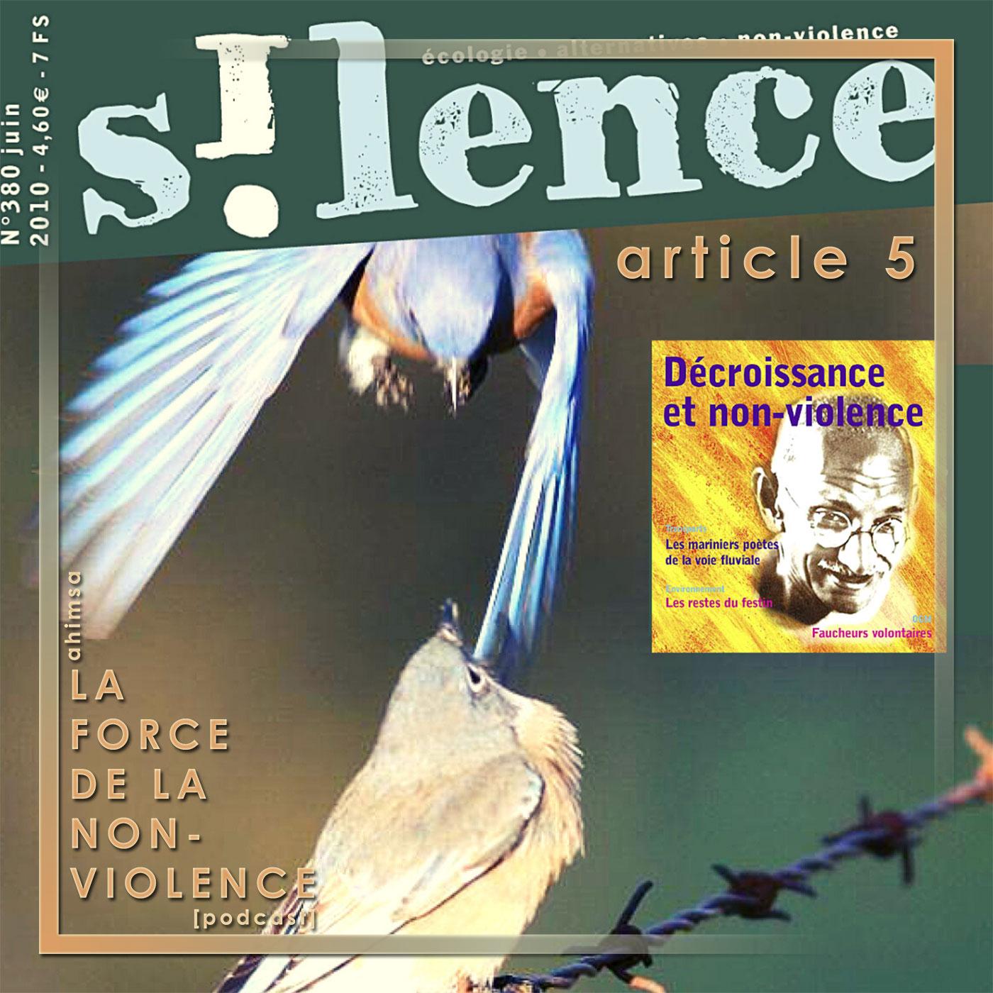 La Force de la Non-violence - article - Silence - revue non-violente